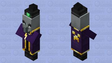 Better Witch / sorcerer / male / Remade Re-texturing / illager Minecraft Mob Skin