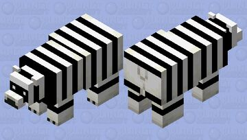 Polar bear is trying to be a panda XD Minecraft Mob Skin