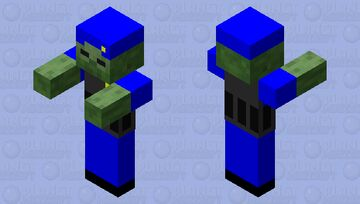 Zombie Police Minecraft Mob Skin