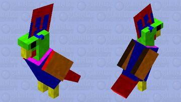 multi-colored cockatoo Minecraft Mob Skin