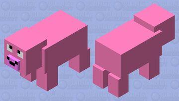 Silly Pig Minecraft Mob Skin