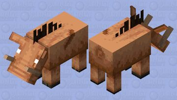 The Piglin Beast (Old Mob Design) (Variant 2) (Credits By FmWild57) Minecraft Mob Skin