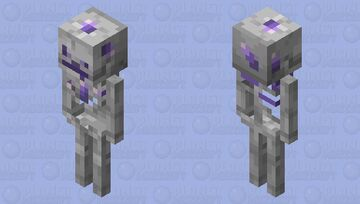 infected amethyst skeleton Minecraft Mob Skin