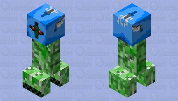 Blue steel helmet creeper Minecraft Mob Skin