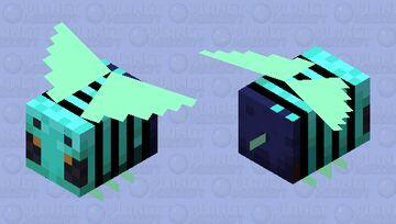 Aqua Bee Minecraft Mob Skin