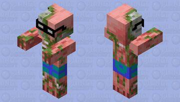 summer zombie pigman Minecraft Mob Skin
