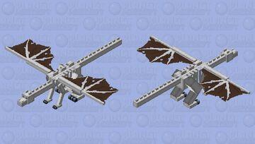 Skeleton Dragon Minecraft Mob Skin