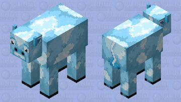 Icy cow (mob skin event Dinowcookie) Minecraft Mob Skin