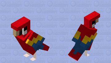 Scarlet Macaw Minecraft Mob Skin