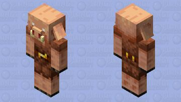 Piglin with Fixed Eyes (Repost) Minecraft Mob Skin