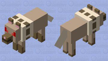 pokemon: rockruff (angry) Minecraft Mob Skin