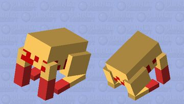 Head crab from the Half-Life series Minecraft Mob Skin