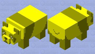 Worried Golden Panda Minecraft Mob Skin
