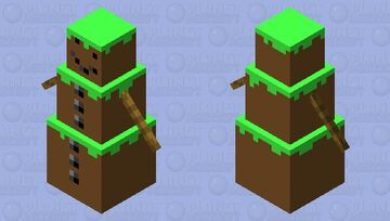 Dirt  Snow Golem Minecraft Mob Skin