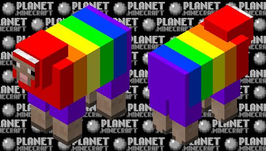 Rainbow sheep Minecraft Skin