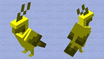 Golden Parrot Minecraft Mob Skin
