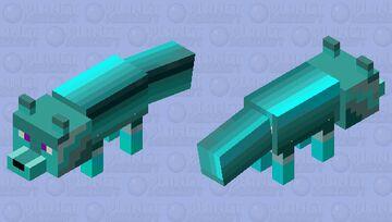 blue shaded fox Minecraft Mob Skin