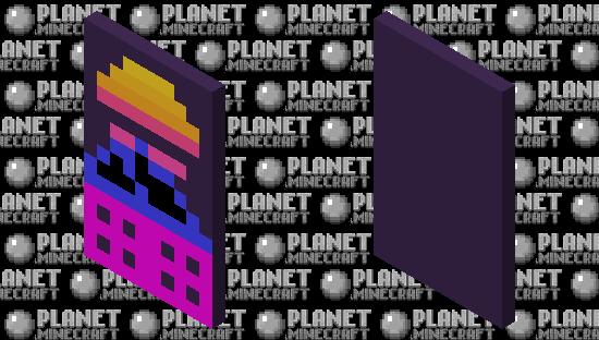 Retro Pixel Art Cape Minecraft Skin