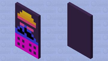 Retro Pixel Art Cape Minecraft Mob Skin