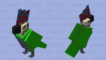 Red fan parrot Minecraft Mob Skin