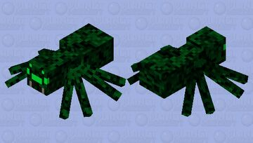 Camo Spider Minecraft Mob Skin