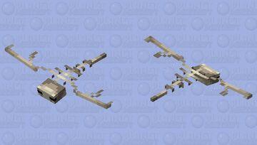 Skeleton Phantom Minecraft Mob Skin