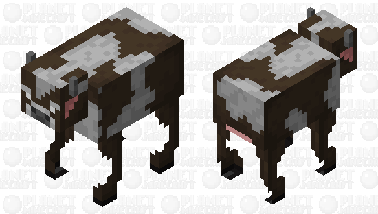 Better Cow / more realistic Minecraft Skin