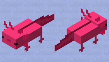 axolotl plastik Minecraft Mob Skin
