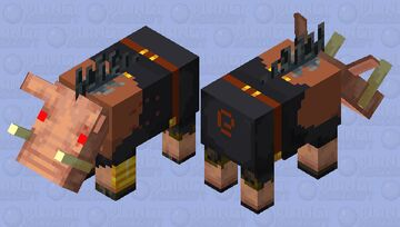 Hogified Piglin Brute Minecraft Mob Skin