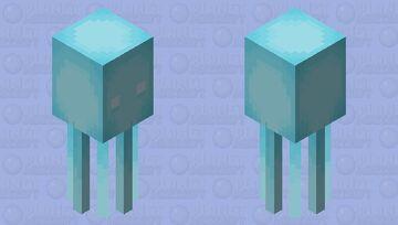 Blue Squid Minecraft Mob Skin