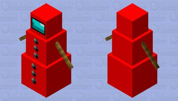 The snow golem is SUS Minecraft Mob Skin