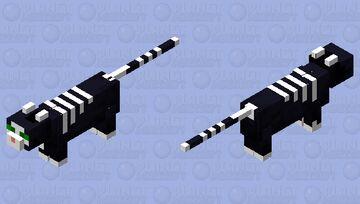 Skull Stripes Cat Minecraft Mob Skin