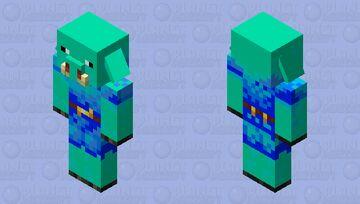 piglin d'eau Minecraft Mob Skin