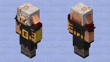 Piglin Brute w/ Demon Skull Helm Minecraft Mob Skin