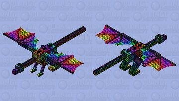 Prism Enderdragon Minecraft Mob Skin