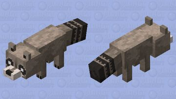Raccoon Minecraft Mob Skin