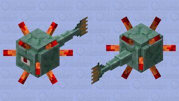 Blood spiked guardian Minecraft Mob Skin