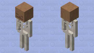 Skeleton Brown Mushroom Minecraft Mob Skin