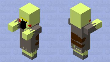 Zombie PikaVillager Minecraft Mob Skin