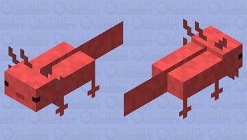 Pastel red Axolotl Minecraft Mob Skin