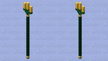 Gold-tipped trident Minecraft Mob Skin