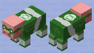 bruh its green pork Minecraft Mob Skin
