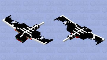 Black/Bloody Phantom Minecraft Mob Skin