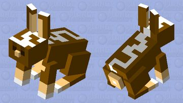 Chocolate Rabbit Minecraft Mob Skin