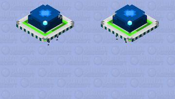 Retro UFO  w landing gear   [Teal + radiation] Minecraft Mob Skin
