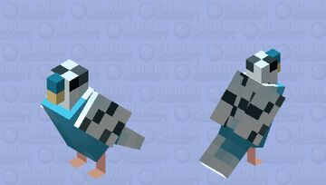 Budgie Parakeet Blue Minecraft Mob Skin