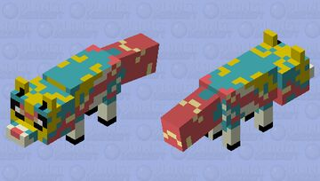 Zacian Fox (because foxes can hold swords) Minecraft Mob Skin