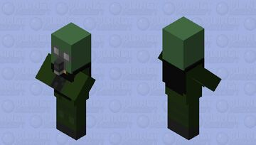 Gas Mask Witch Minecraft Mob Skin