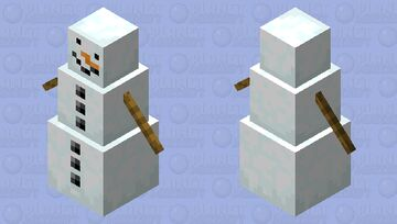 Snow Golem With Carrot Nose Minecraft Mob Skin