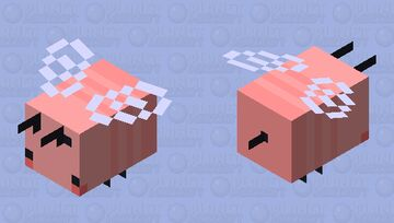 strawberry bee Minecraft Mob Skin